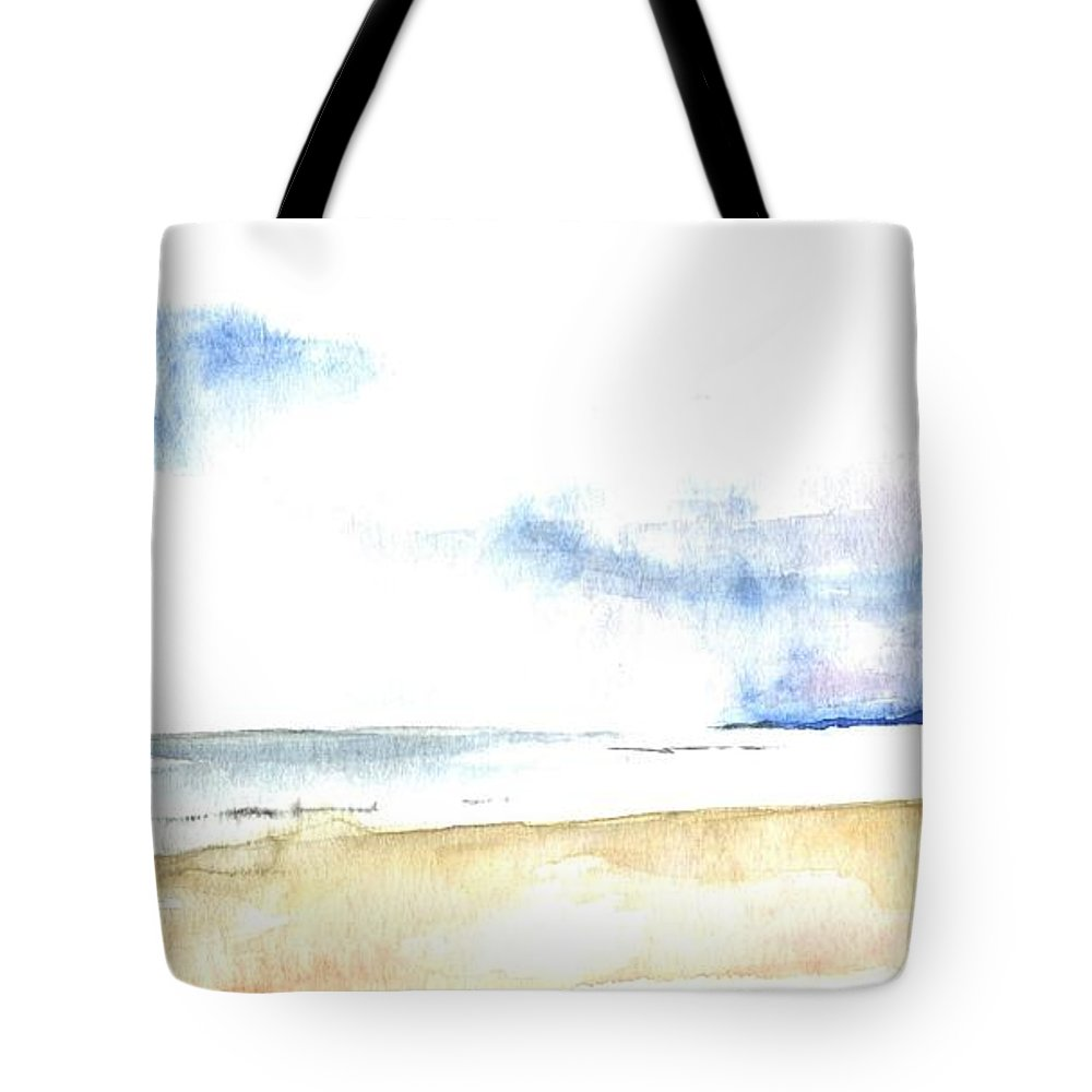 Seaview Tote Bag featuring the painting Seaview by Karina Plachetka