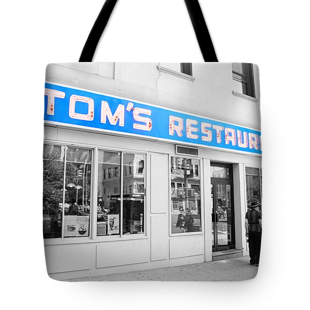 Seinfeld Tote Bag featuring the photograph Seinfeld Diner Location by Valentino Visentini