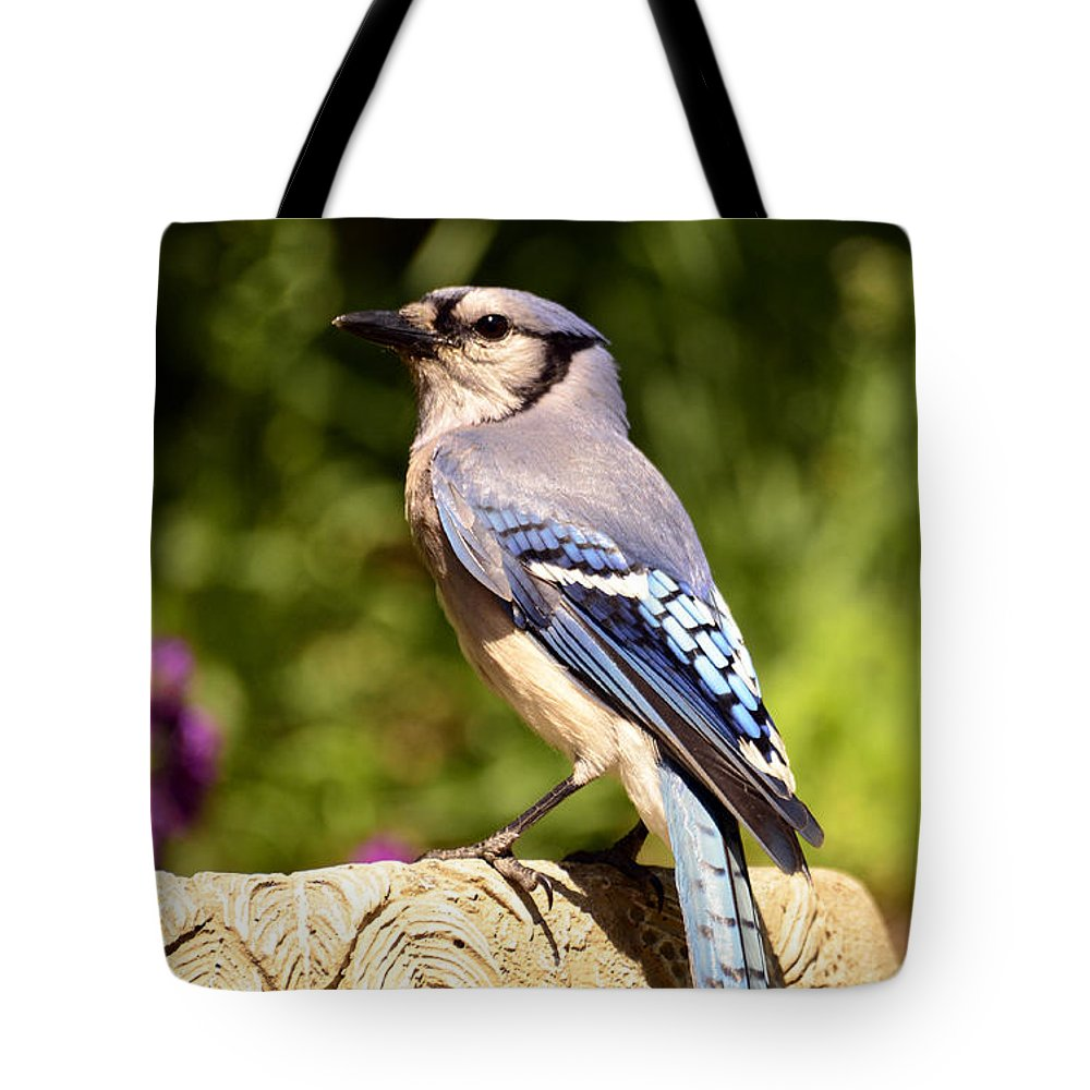 Bird Tote Bag featuring the photograph Shades Of Blue by Lori Tambakis