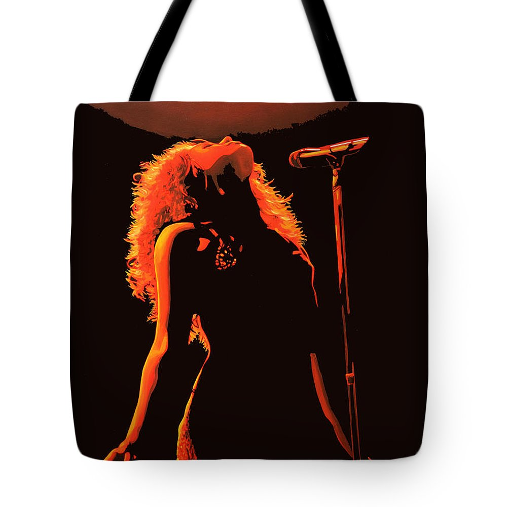 Shakira Tote Bag featuring the painting Shakira by Paul Meijering