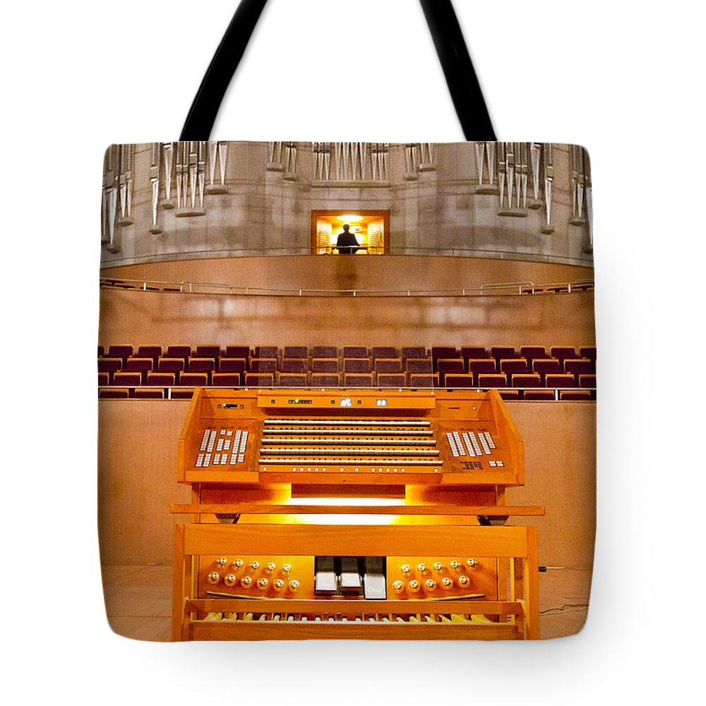 Shanghai Tote Bag featuring the photograph Shanghai Organ by Jenny Setchell