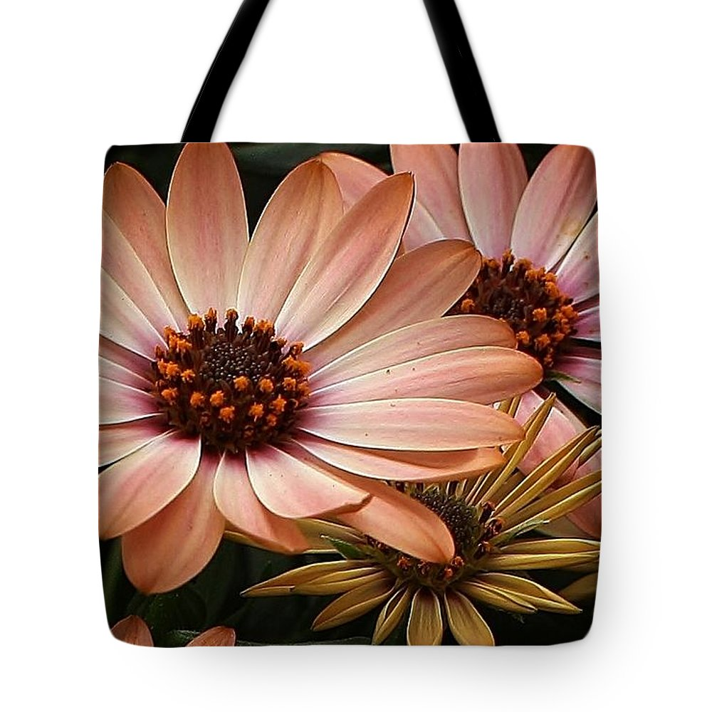 Flora Tote Bag featuring the photograph She Loves Me She Loves Me Not by Bruce Bley