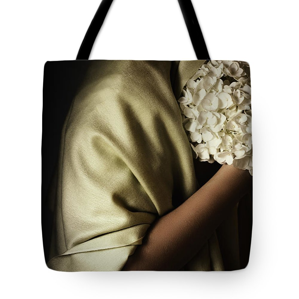 Caucasian Tote Bag featuring the photograph Shy by Margie Hurwich