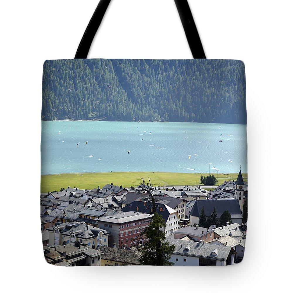 Lake Tote Bag featuring the photograph Silvaplana by Mats Silvan
