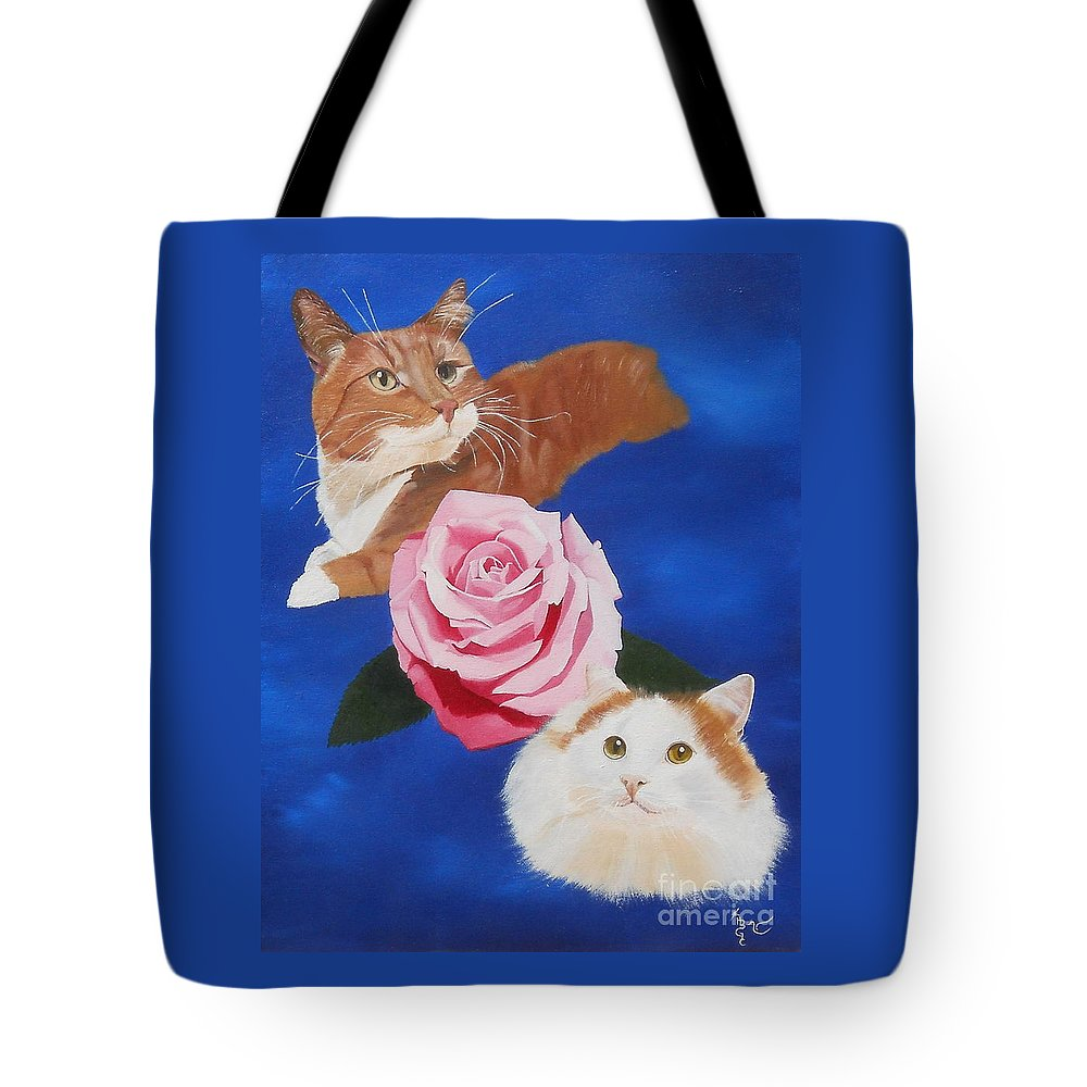 Cat Tote Bag featuring the painting Simple Beauty by Heather Chandler
