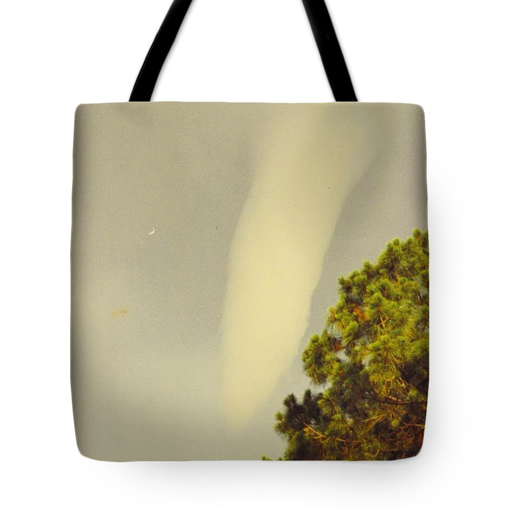 Tornado Formed.looking East From My Back Yard Tote Bag featuring the photograph Skyscape - Tornado Formed by Robert Floyd