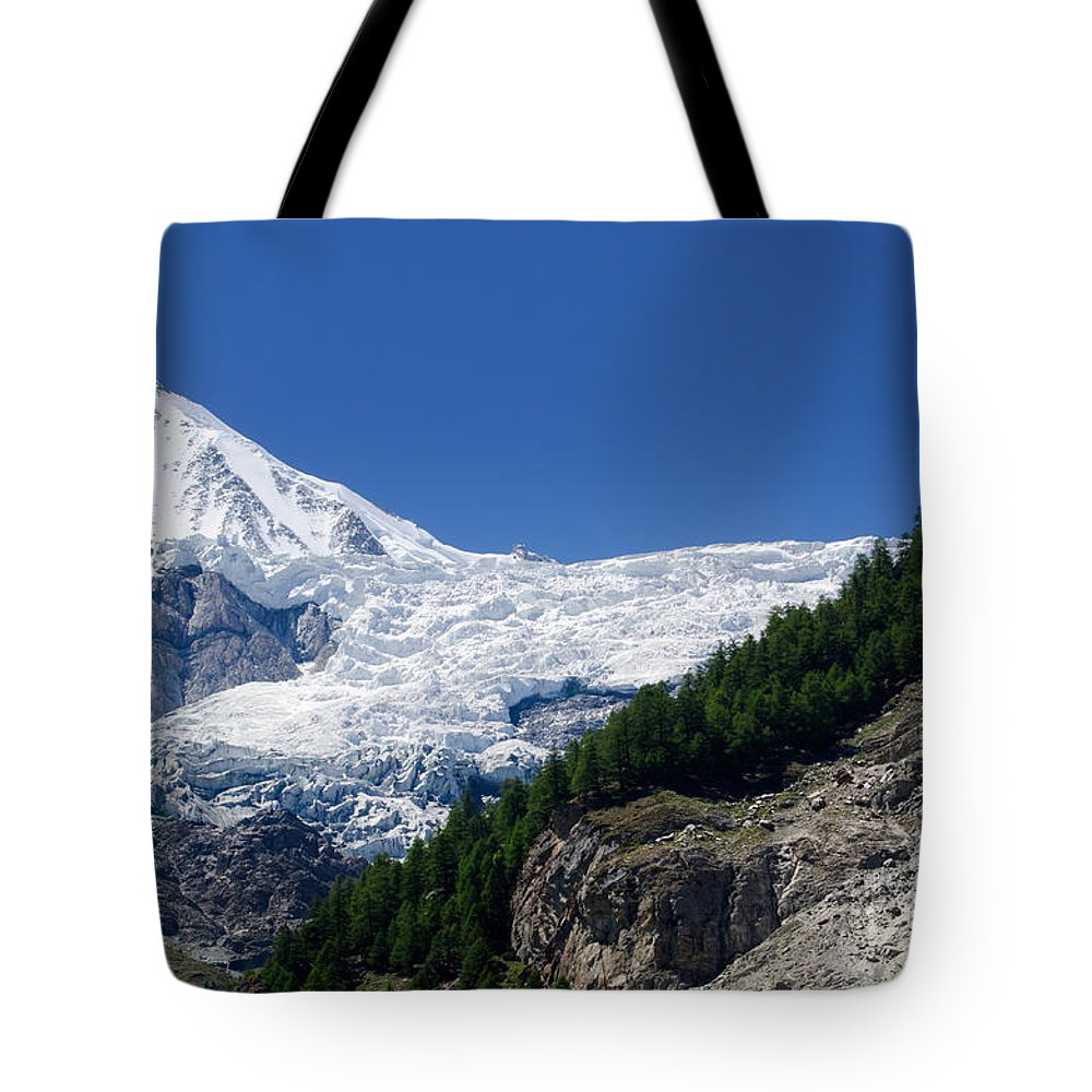 Snow Tote Bag featuring the photograph Snow Glacier by Mats Silvan