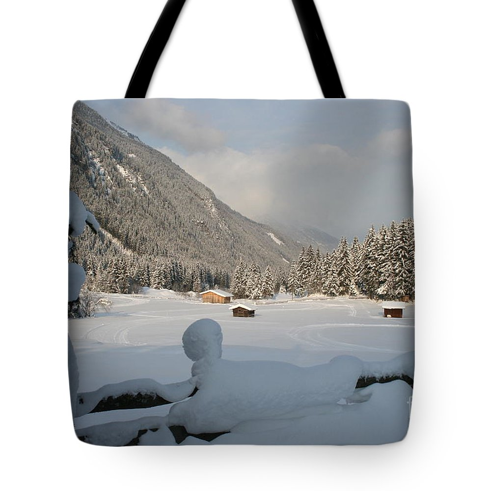 Snow Tote Bag featuring the photograph Snowed Under by Christiane Schulze Art And Photography