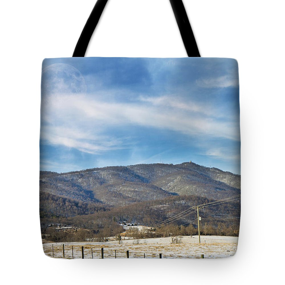 Mountain Tote Bag featuring the photograph Snowy High Peak Mountain by Betsy Knapp