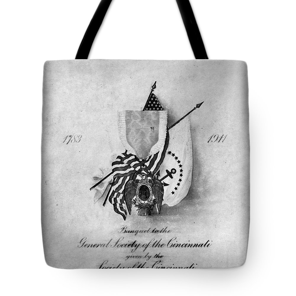 1911 Tote Bag featuring the photograph Society Of The Cincinnati by Granger