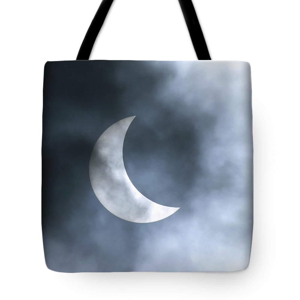 Color Image Tote Bag featuring the photograph Solar Eclipse August 11 1999 by Konrad Wothe