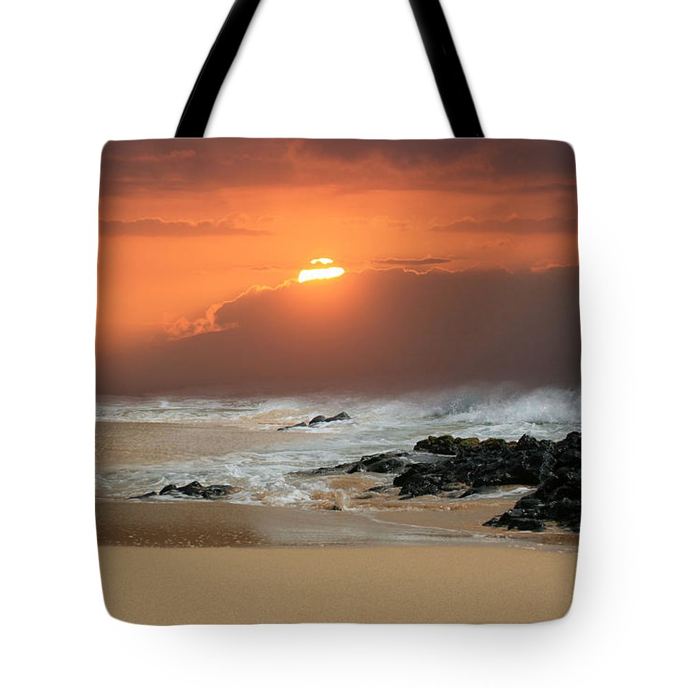 Aloha Tote Bag featuring the photograph Song Of The Sea by Sharon Mau