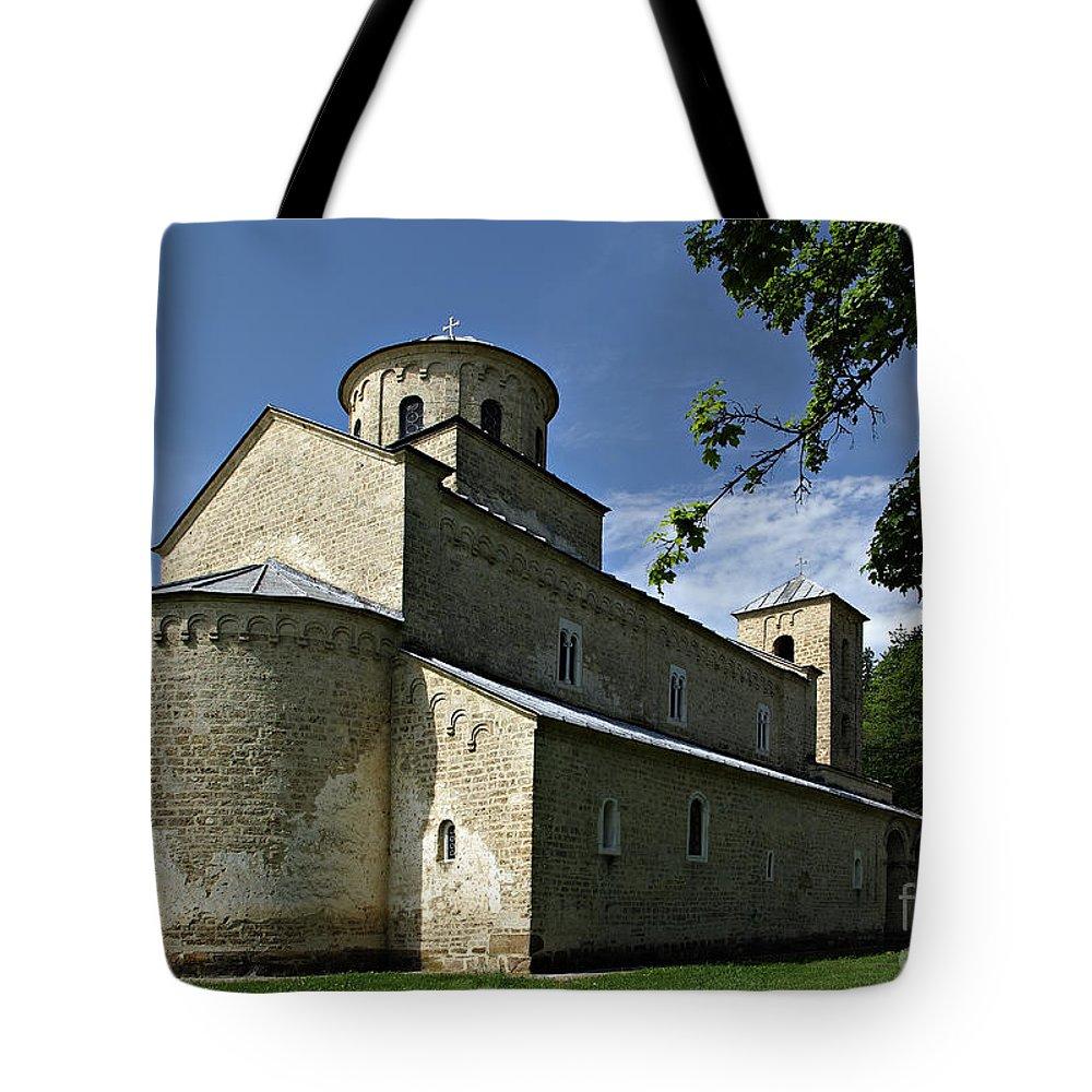 Ancient Tote Bag featuring the photograph Sopocani Monastery by Zoran Berdjan