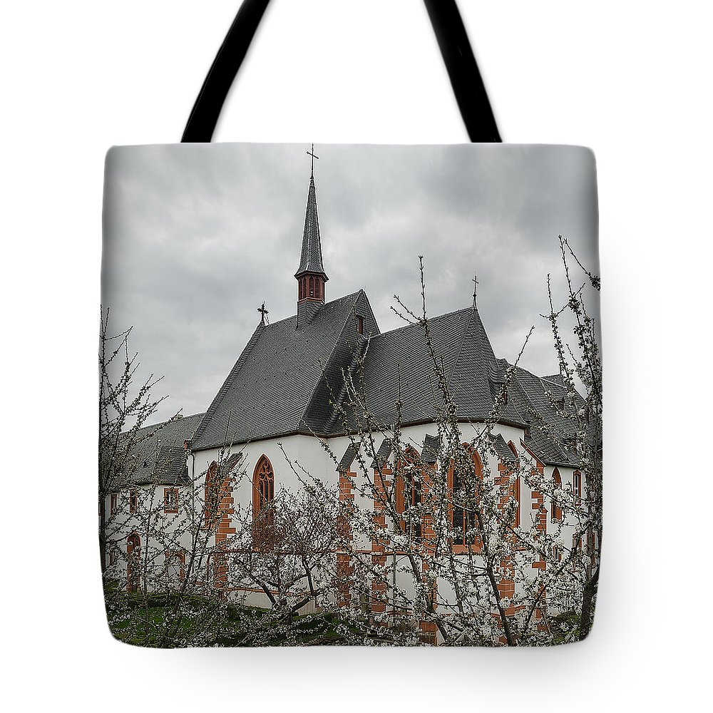 Abbey Tote Bag featuring the photograph St-nikolaus Hospital Bernkastel by TouTouke A Y