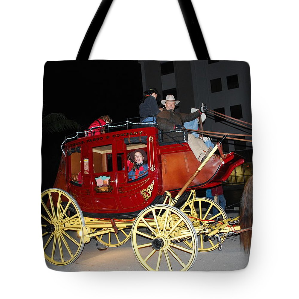 Edison Parade Of Lights Tote Bag featuring the photograph Stagecoach by Robert Floyd