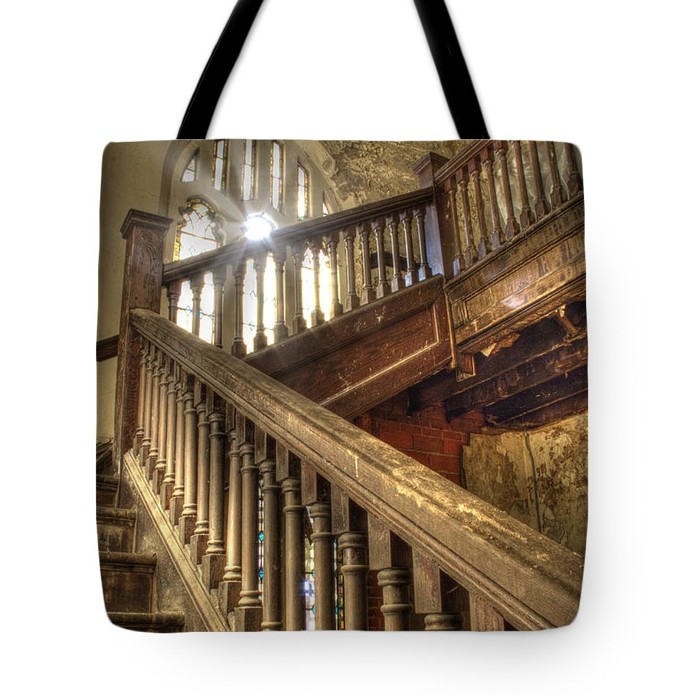 Interior Tote Bag featuring the photograph Stairway To Heaven by Pat Eisenberger