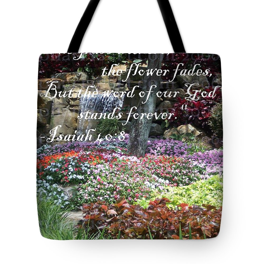 Inspirational Tote Bag featuring the photograph Stands Forever by Pharris Art