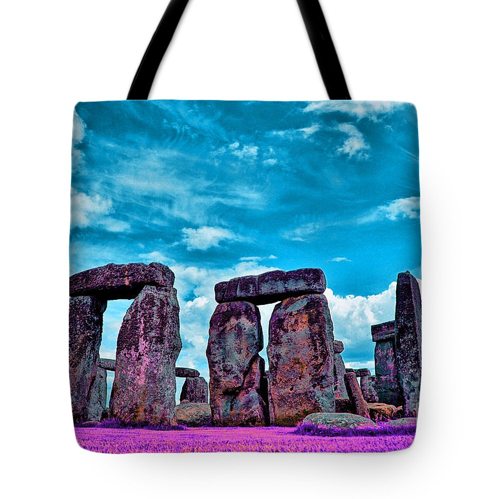 Stonehenge In The English County Of Wiltshire Ir Tote Bag featuring the photograph Stonehenge In The English County Of Wiltshire by Celestial Images