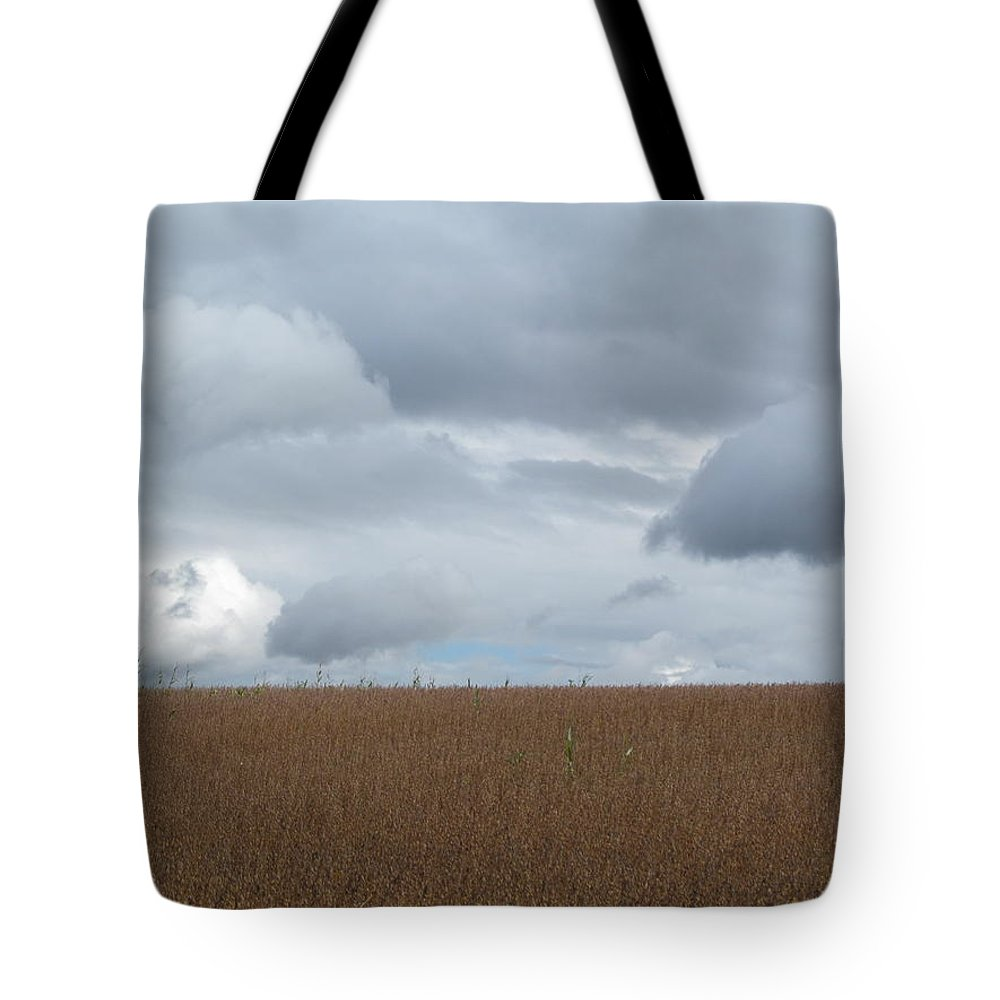 Soy Beans Tote Bag featuring the photograph Storm Coming by Tina M Wenger