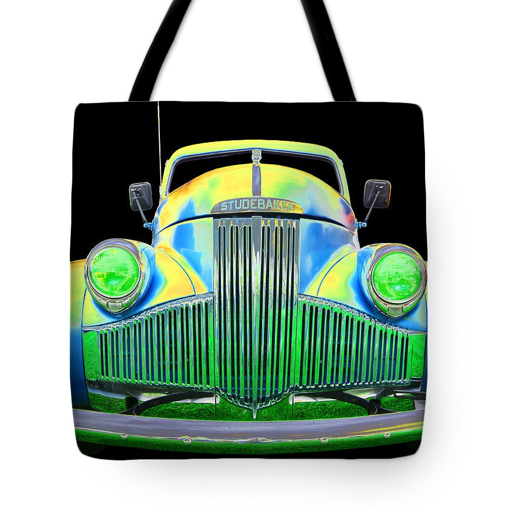 1947 Studebaker Pick Up Tote Bag featuring the photograph Studebaker by Allan Price