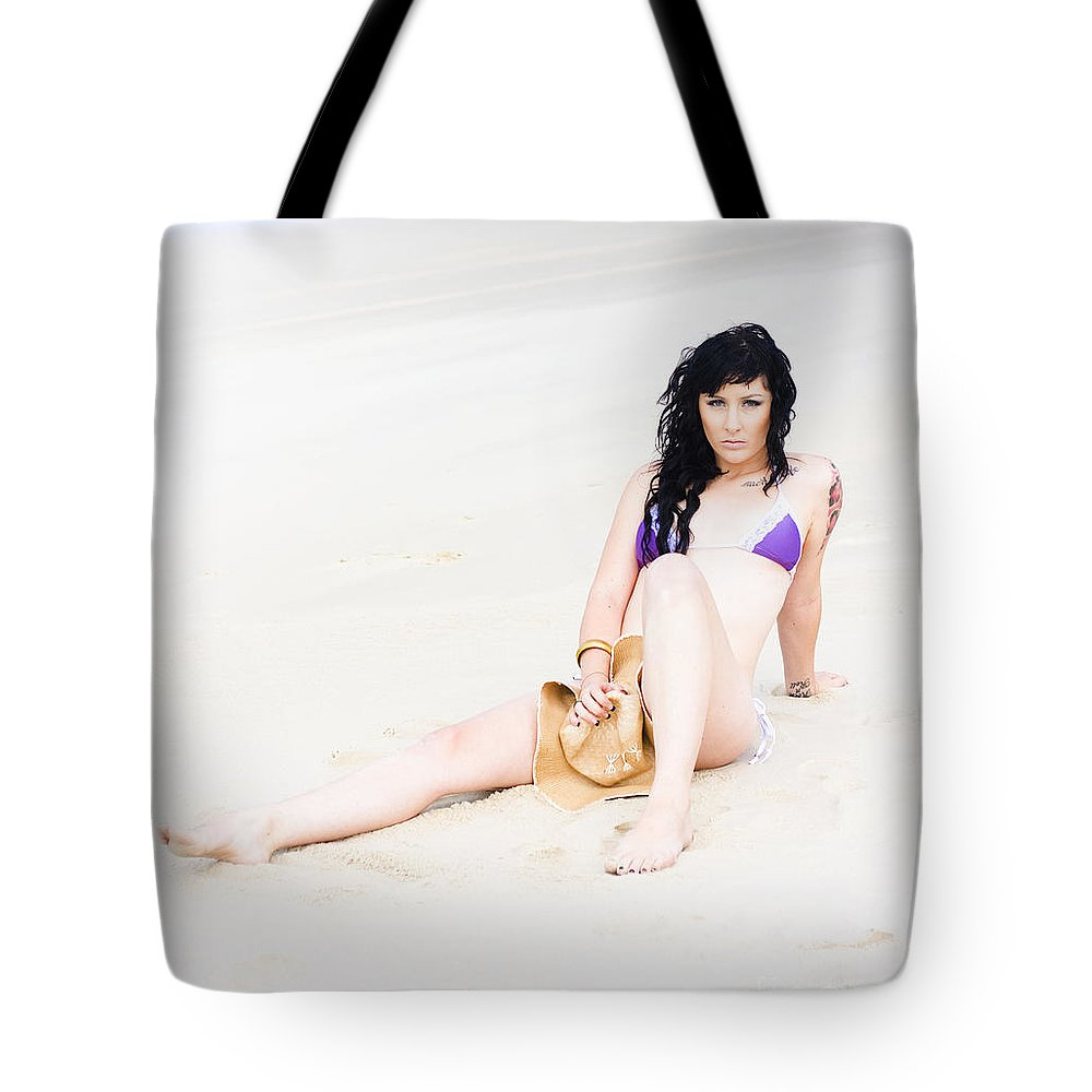 Caucasian Tote Bag featuring the photograph Summer Cover Up by Jorgo Photography - Wall Art Gallery
