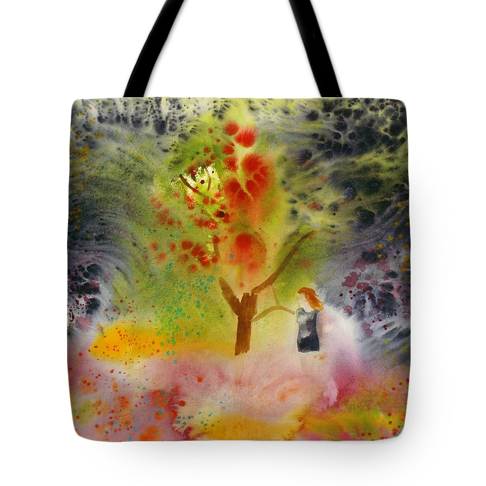 Landscape Tote Bag featuring the painting Summer Fantasy by Brook Powell