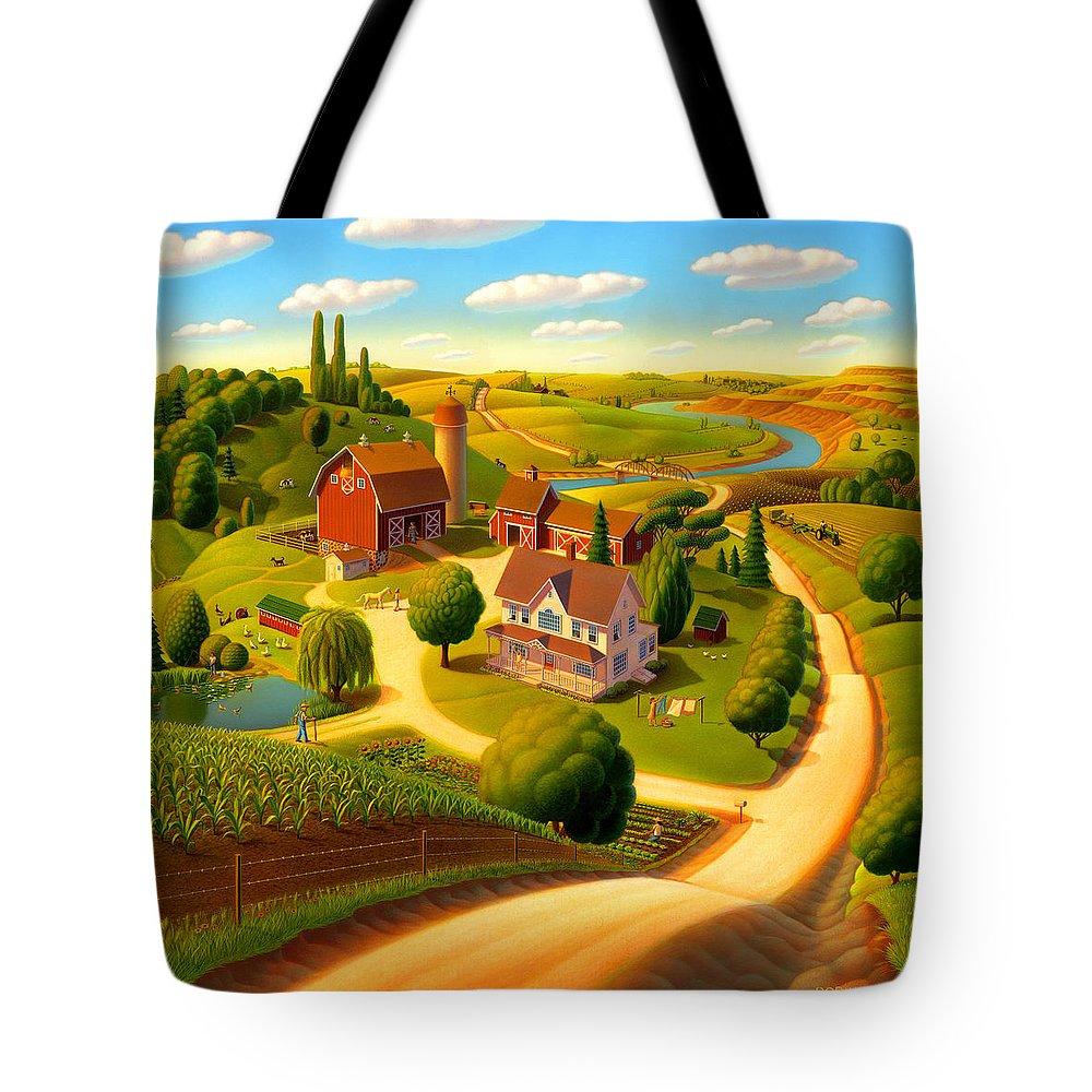 Rural Scene Tote Bags