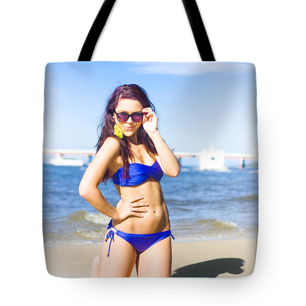Attractive Tote Bag featuring the photograph Sun Sand And Sea Leisure by Jorgo Photography - Wall Art Gallery