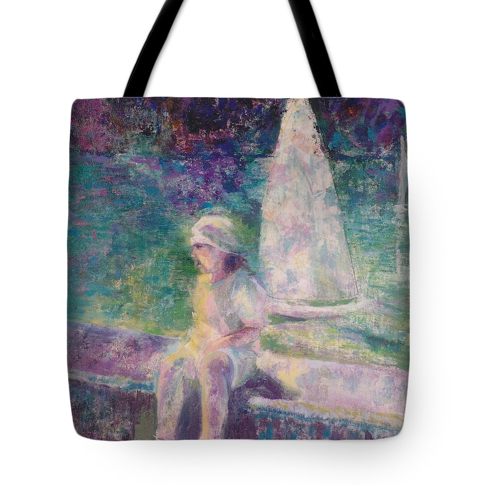 Little Girl Tote Bag featuring the painting Sunlight In Central Park by Connie Freid