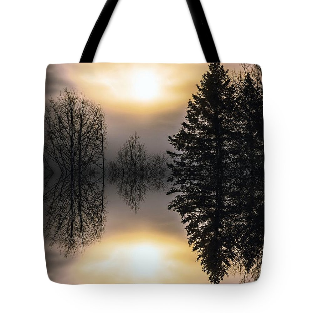 Sunrise Tote Bag featuring the photograph Sunrise-sundown by Sherman Perry