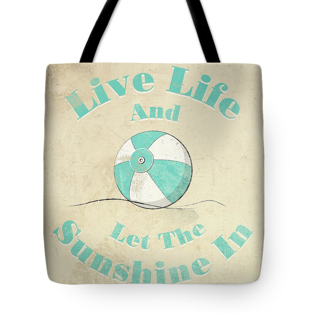 Be Tote Bag featuring the digital art Sunshine by South Social Studio