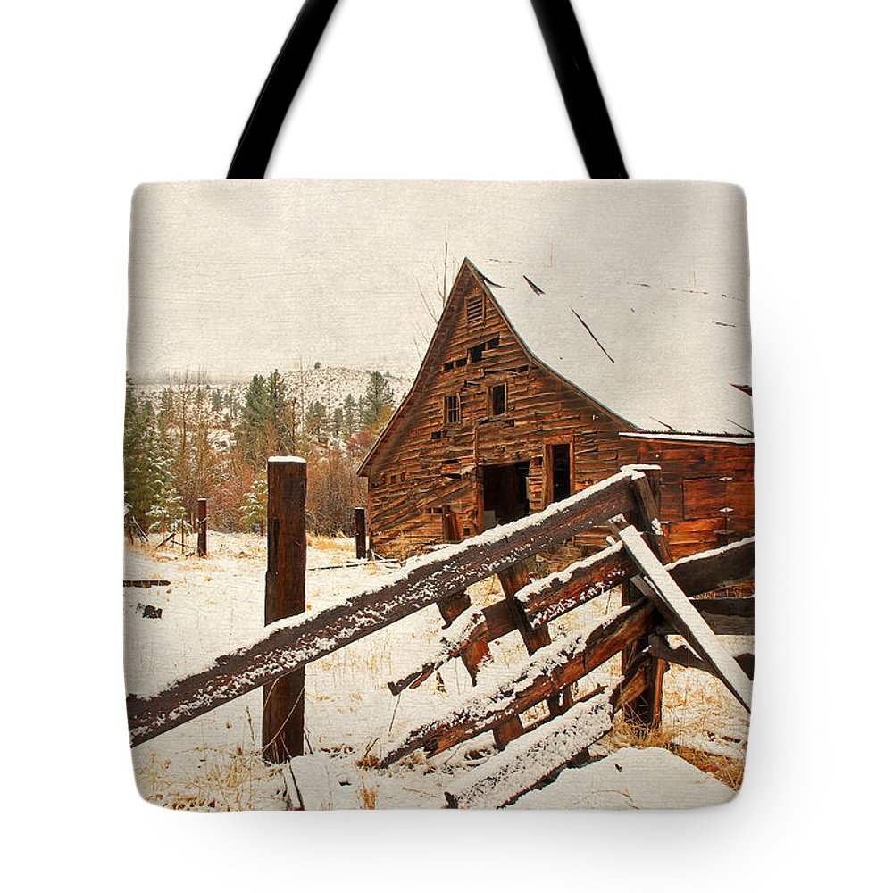 Barns Tote Bag featuring the photograph Surviving The Elements by Donna Kennedy