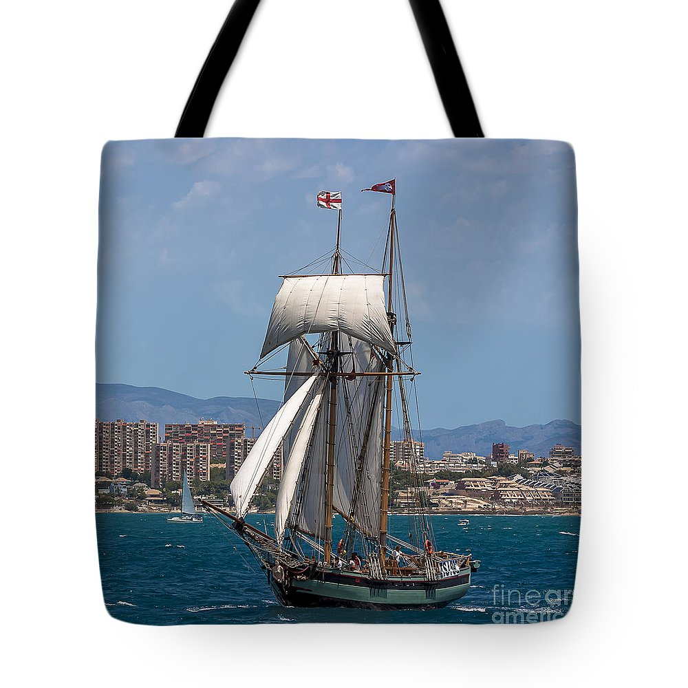 Tall Ships Tote Bag featuring the photograph Tall Ship Alicante by Pablo Avanzini