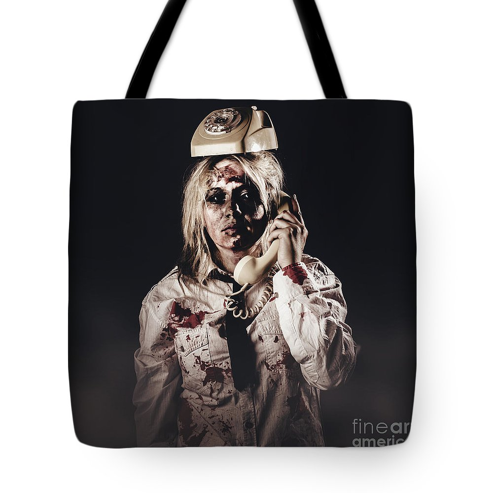 Telemarketing Tote Bag featuring the photograph Telemarketing by Jorgo Photography - Wall Art Gallery