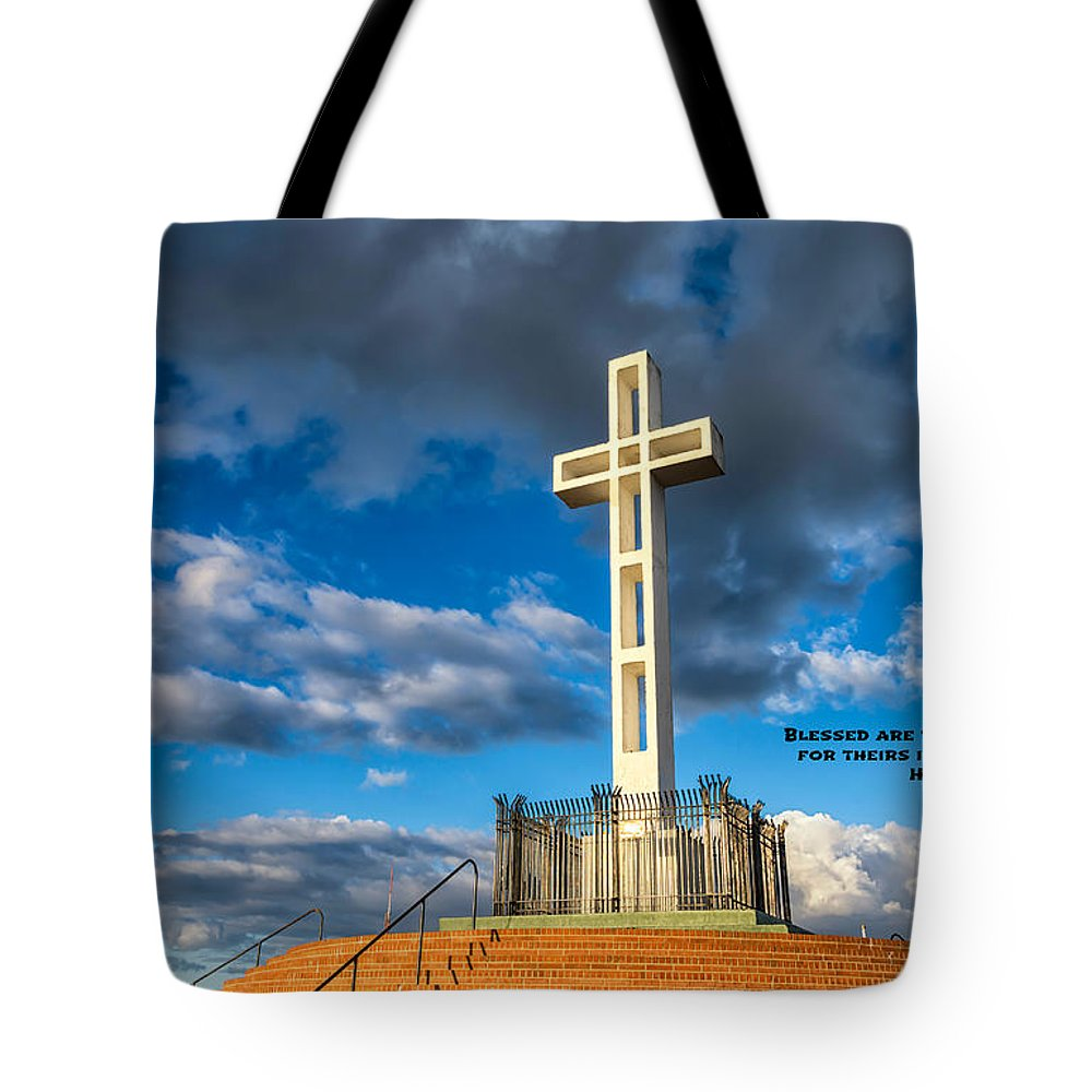 The Beatitudes Tote Bag featuring the photograph The Beatitudes by Joseph S Giacalone