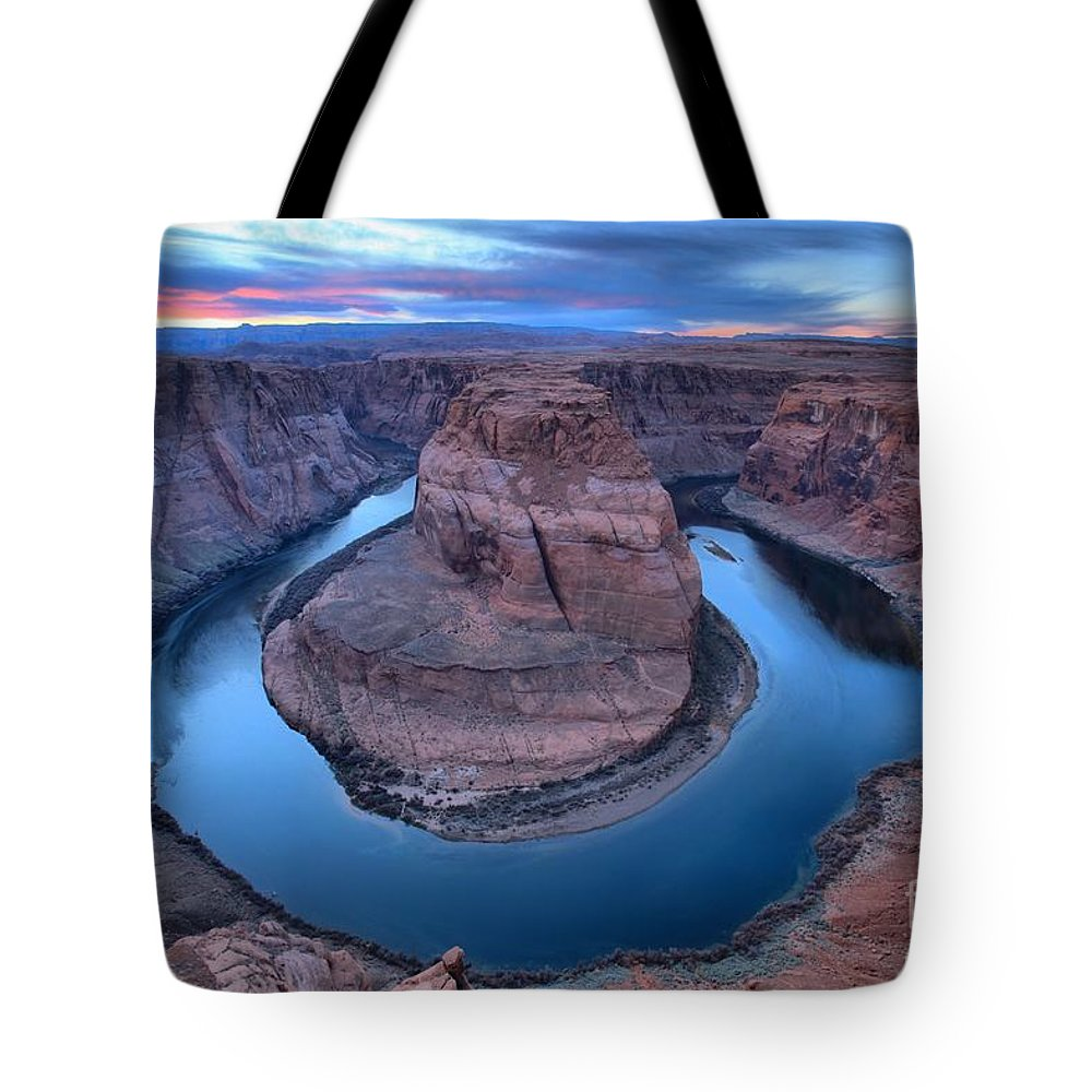 Horseshoe Bend Tote Bag featuring the photograph The Big Bend by Adam Jewell