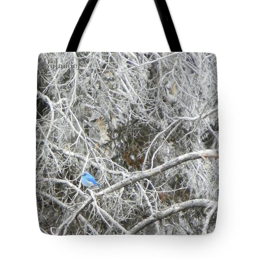 Blue Tote Bag featuring the photograph The Blue Stallion by Jamie Johnson