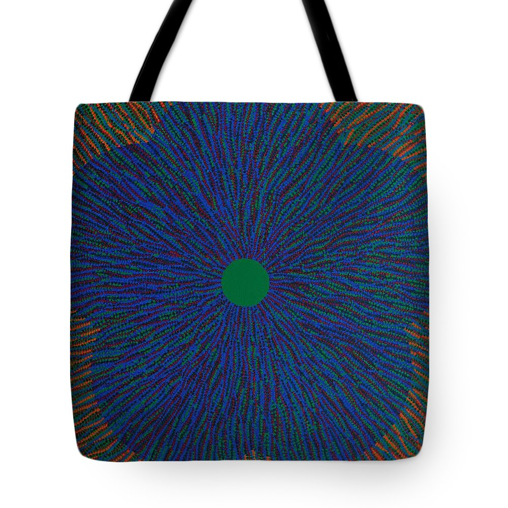Flower Tote Bag featuring the painting The Flower 4 by Kyung Hee Hogg