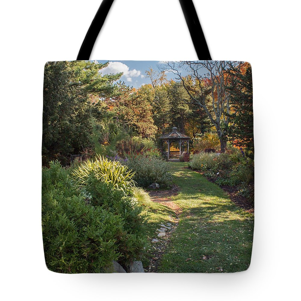 Nature Tote Bag featuring the photograph The Gazebo by Arlene Carmel