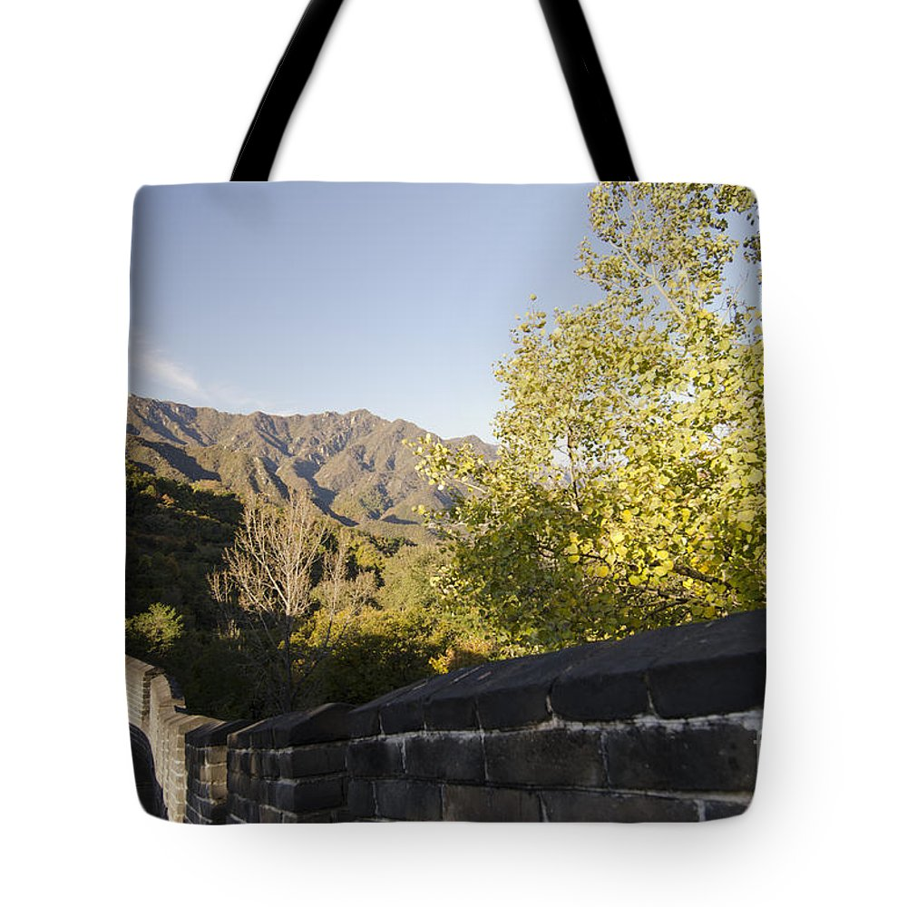 China Landscape Tote Bag featuring the photograph The Great Wall 1064 by Terri Winkler