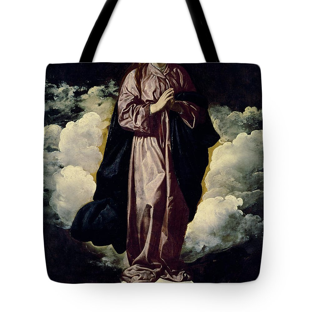 The Immaculate Conception Tote Bag featuring the painting The Immaculate Conception by Diego Rodriguez de Silva y Velazquez