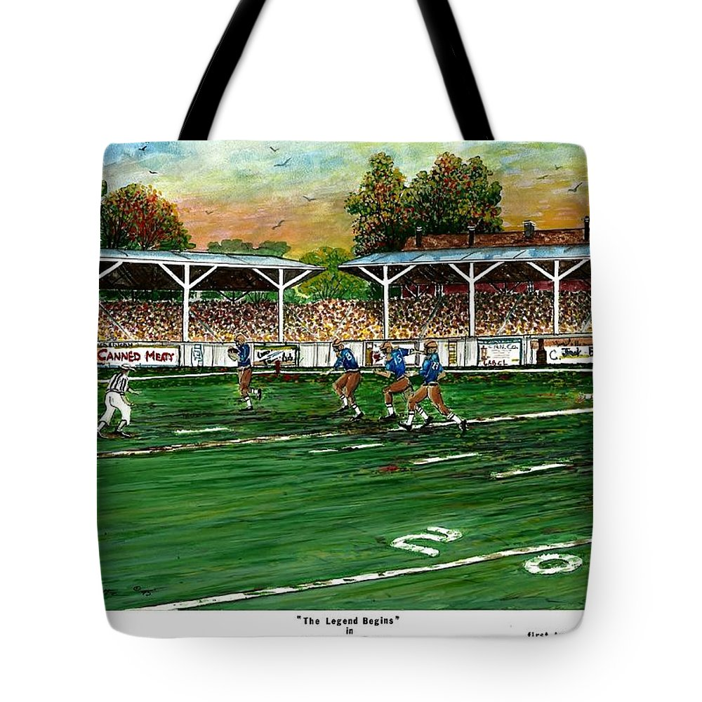 The Legend Begins Tote Bag featuring the painting The Legend Begins by Steven Schultz