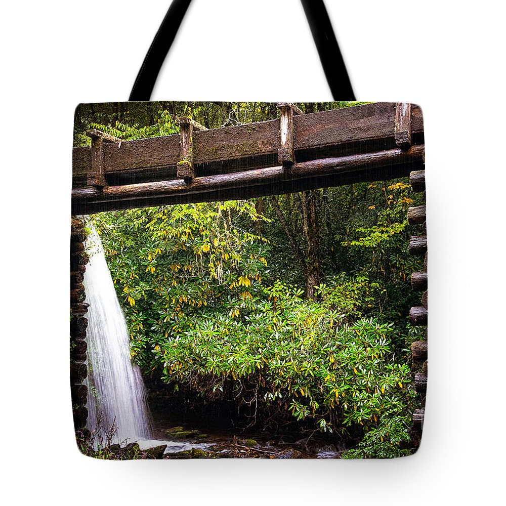 Park Tote Bag featuring the photograph The Mingus Grist Mill by Cindy Tiefenbrunn
