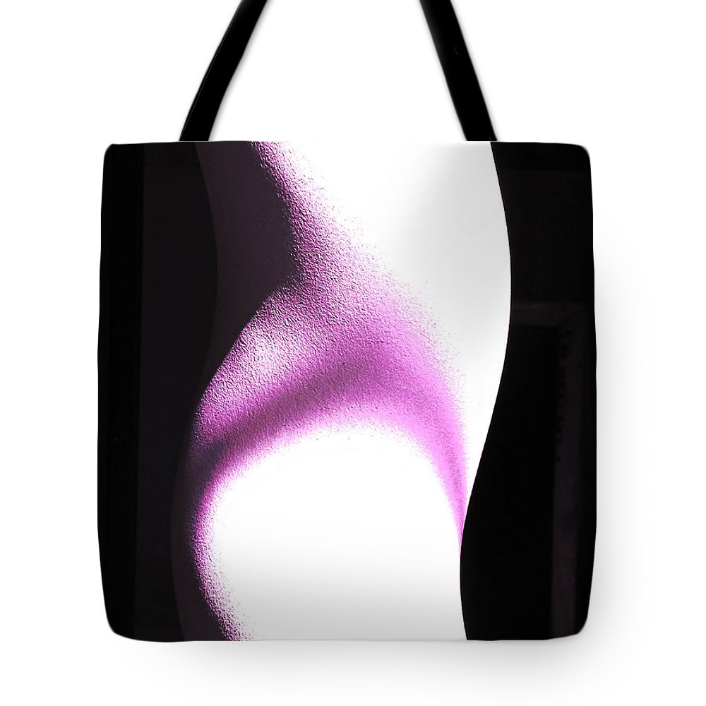 Feminine; Light; Shade; Purple; Texture; Cement; Concrete; Sexy; Column; Support; Leg; Waist; Buttock; Thong Tote Bag featuring the photograph The Model by Steve Taylor
