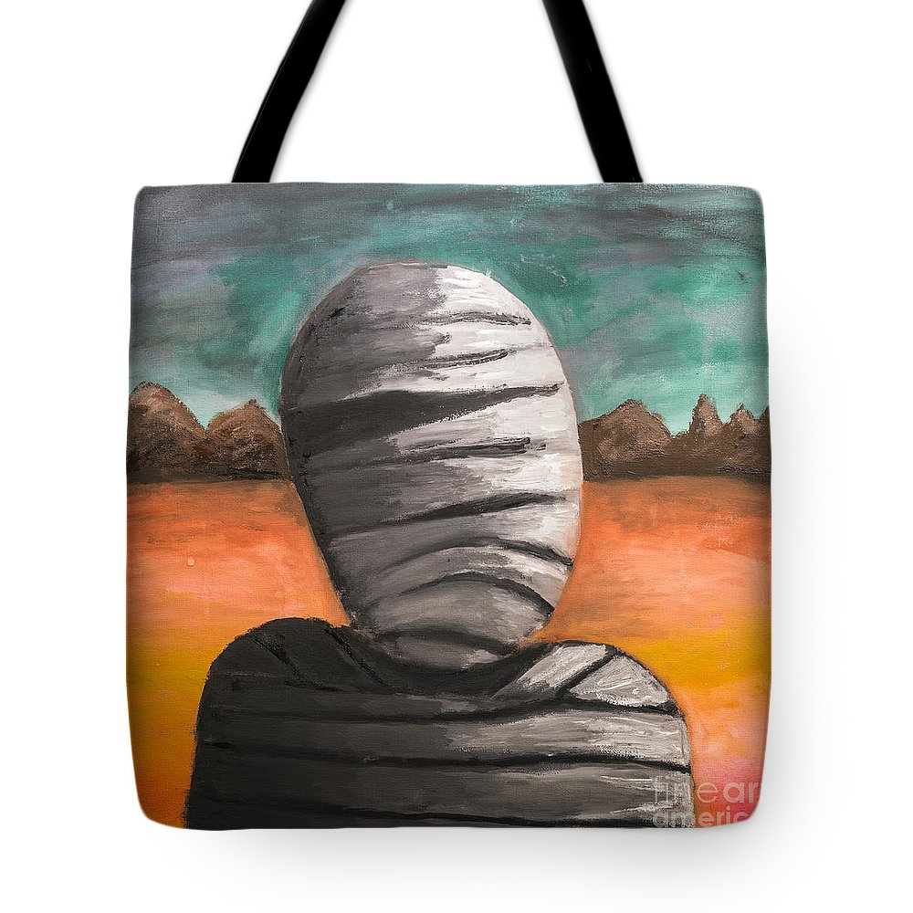 Fantasy Tote Bag featuring the painting The Mummy And The Curse Of Eternity by Jorgo Photography - Wall Art Gallery