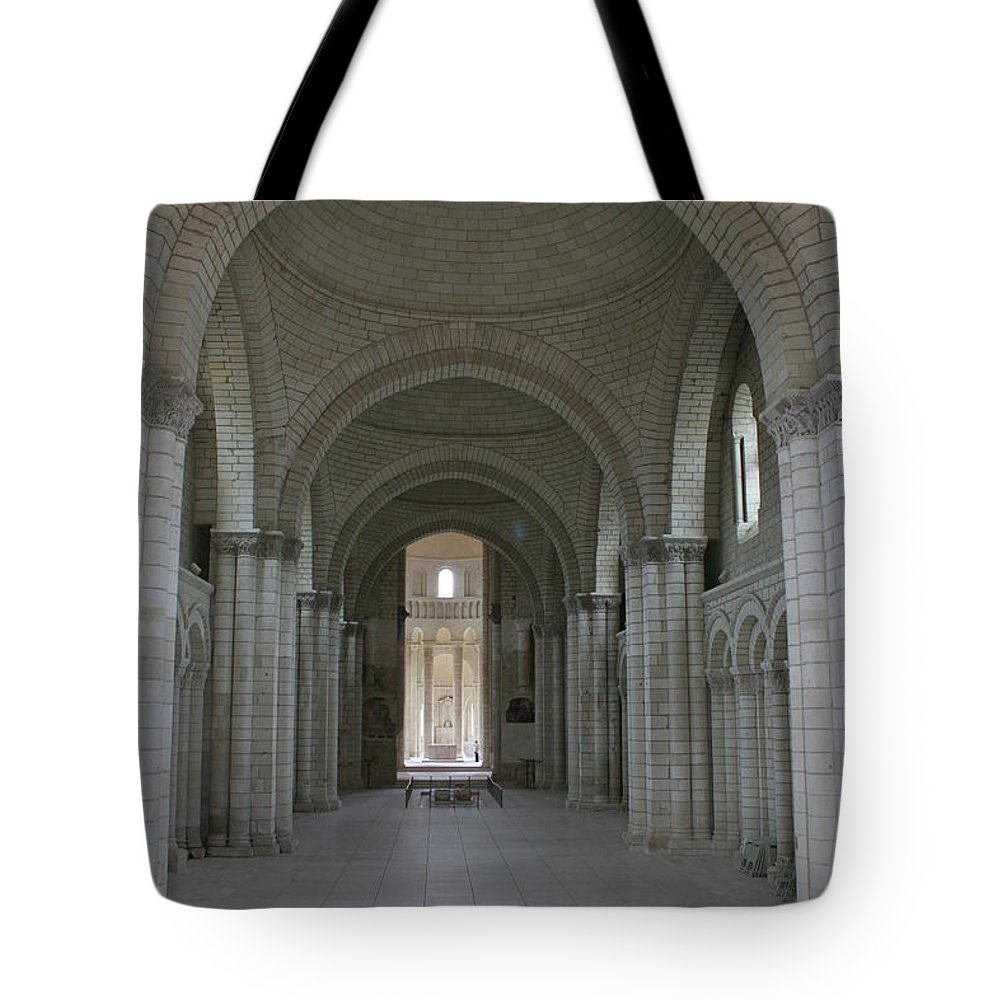 Nave Tote Bag featuring the photograph The Nave - Cloister Fontevraud by Christiane Schulze Art And Photography