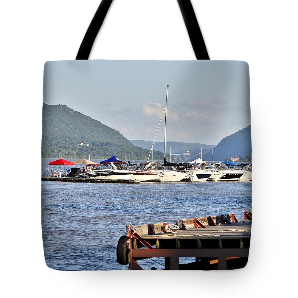 Tote Bag featuring the photograph The Newburgh Water Front by Chet B Simpson