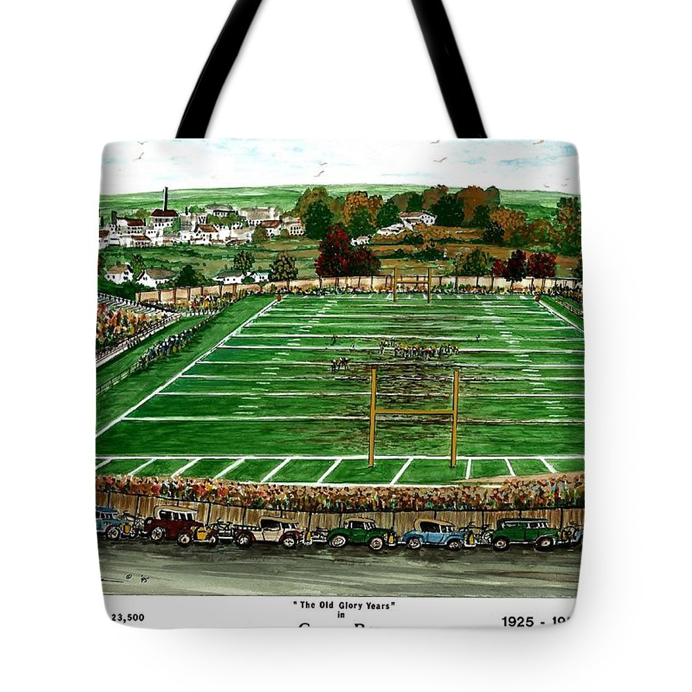 The Old Glory Years Tote Bag featuring the painting The Old Glory Years by Steven Schultz