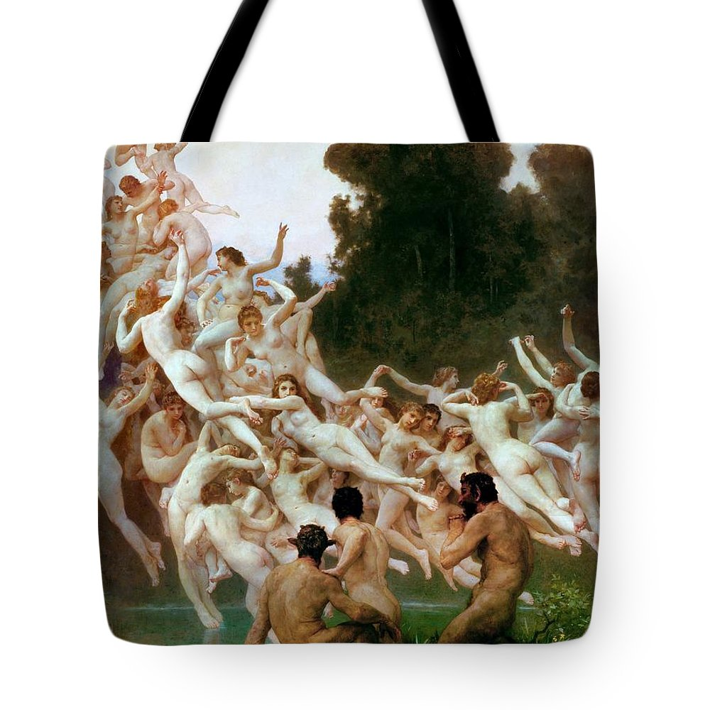 William-adolphe Bouguereau Tote Bag featuring the painting The Oreads by William-Adolphe Bouguereau