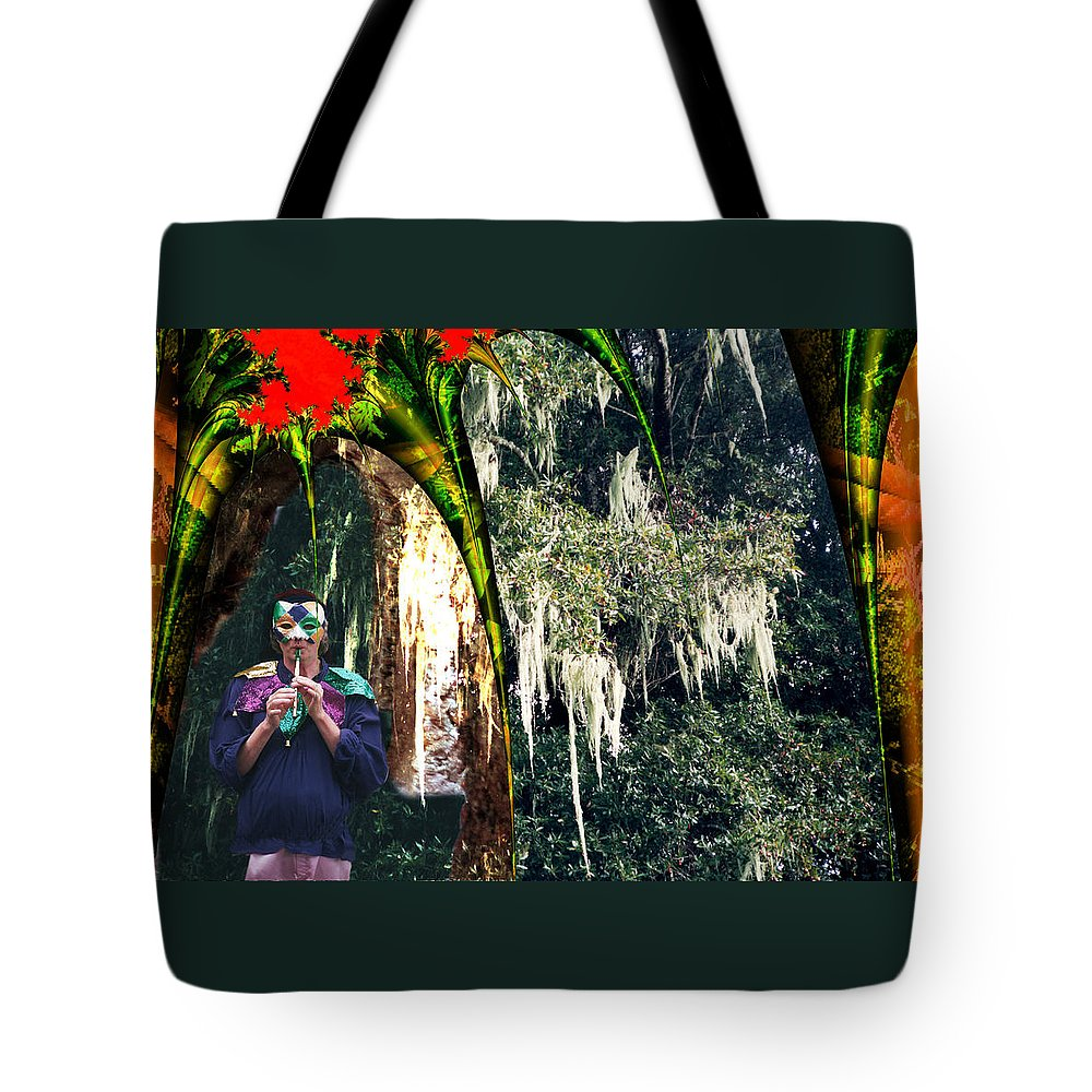 Fairy Tote Bag featuring the digital art The Other Forest by Lisa Yount